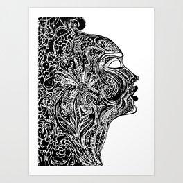 Emerging Face Art Print