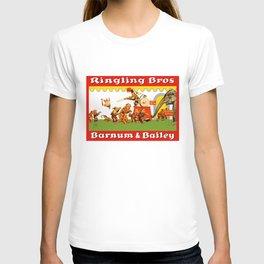 Retro Circus Poster - Monkeys T-shirt