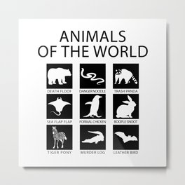 RARE ANIMALS OF THE WORLD Metal Print