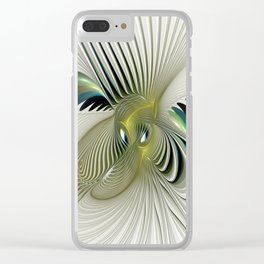 Fractal Have A Look, Modern Abstract Fantasy Clear iPhone Case