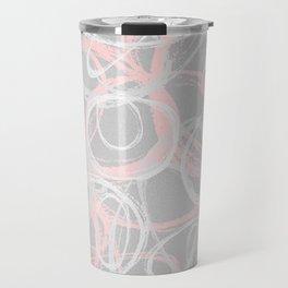 Gray and Pink Travel Mug