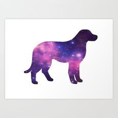 SPACE DOG Art Print