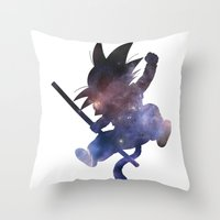 goku Throw Pillows featuring SPACE GOKU by DrakenStuff+