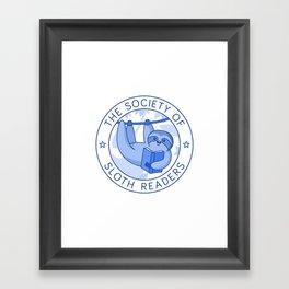 Society of Sloth Readers Framed Art Print