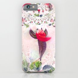 Dancing Red Rose Buds - IA iPhone Case