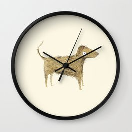 Wire Haired Dog Wall Clock