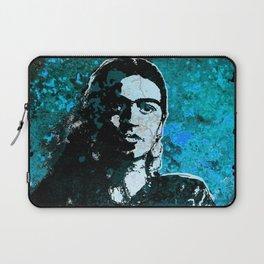 FRIDA - turquoise grunge Laptop Sleeve