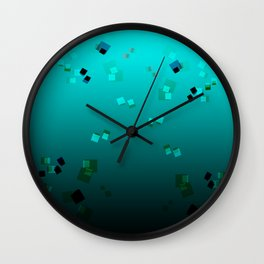 20180707 Graphic gradient pleasure No. 1 Wall Clock