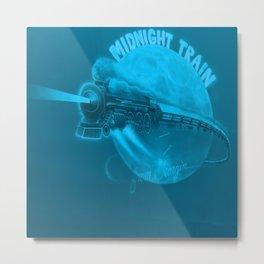 Blue Midnight train Metal Print