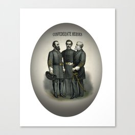 Civil War Heroes Stonewall Beauregard Lee Canvas Print