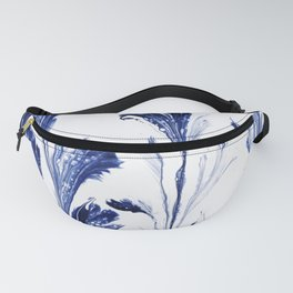 Painted Flowers In Blue Fanny Pack