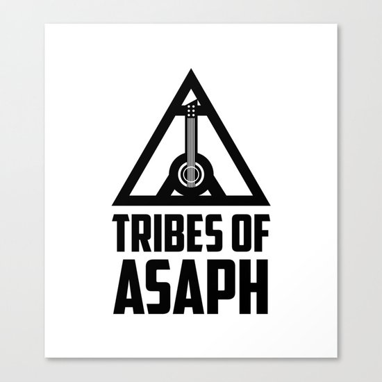 Tribes Of Asaph (Black on light) Canvas Print