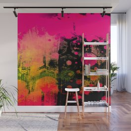 In a Pink and Black Mood Wall Mural