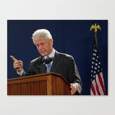 Bill Clinton Canvas Print