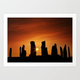 Sunset over Callanish Art Print