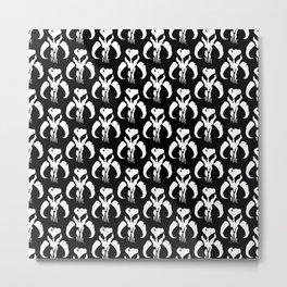 Mythosaur Skulls in Black and White Metal Print