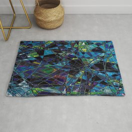 Fragments- Blue Mosaic  Rug