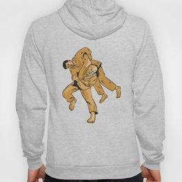 Judo Combatants Throw Front Etching Hoody