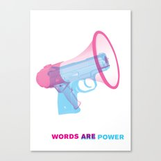 Words Are Power Canvas Print