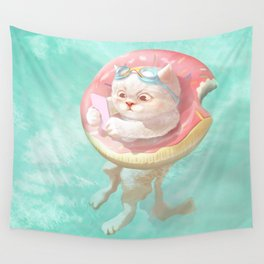 Donut Pool Float Wall Tapestry