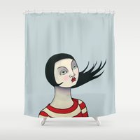 anna Shower Curtains featuring Anna by Minsi Design
