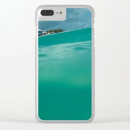 Turquoise Tide Clear iPhone Case