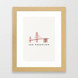 Golden Gate Bridge 2, San Francisco, California Framed Art Print