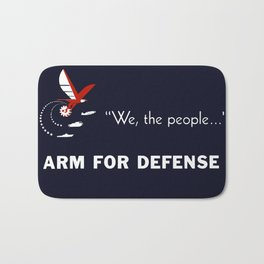 We The People Arm For Defense Bath Mat