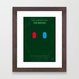 No093 My The Matrix minimal movie poster Framed Art Print