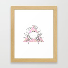 Tropic of cancer watercolor crab Framed Art Print