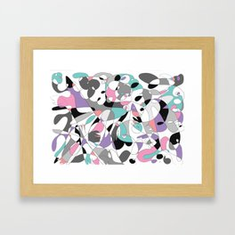Helping hands absract painting Framed Art Print