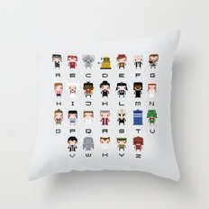 Doctor Who Alphabet Throw Pillow