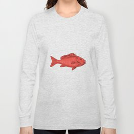 Australasian Snapper Swimming Drawing Long Sleeve T-shirt
