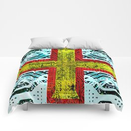 circuit board guernsey Comforters