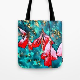 Angels Fishing Rod Floral Art Tote Bag