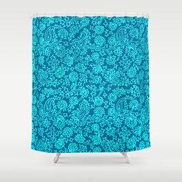 Indian Wood Block Pattern 4 Shower Curtain