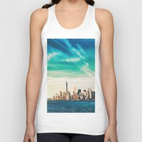 skyline Tank Tops featuring NYC Skyline by Vivienne Gucwa