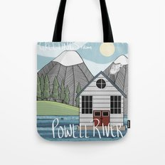 Greetings from Powell River w/Text Tote Bag