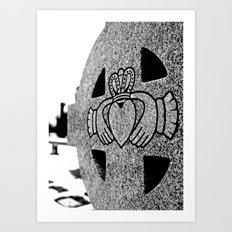 Winter Claddagh Art Print