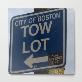 City of Boston Tow Lot Metal Print