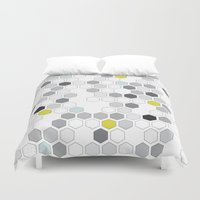 diamonds Duvet Covers featuring Diamonds by Mimmi Wide