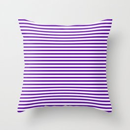 Purple Candy Stripes Throw Pillow