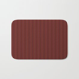 Aurora Red and Black Stripes Bath Mat