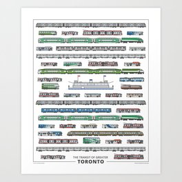 The Transit of Greater Toronto Art Print