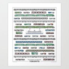 The Transit of Greater Toronto Art Print