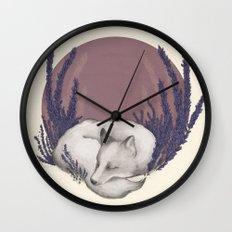 Fox & Lavender Wall Clock