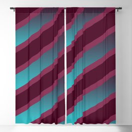 The Burgundy Blues Blackout Curtain