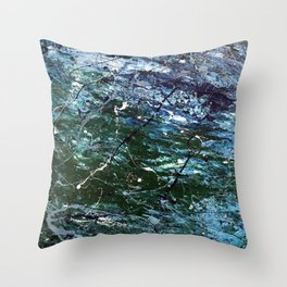 SeaGreenNumber5 Throw Pillow