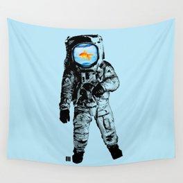 Goldfish Astronaut Wall Tapestry