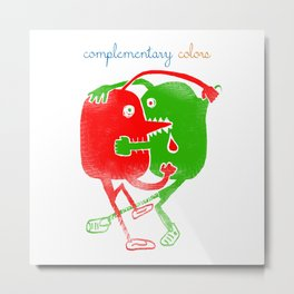 complementary colors fight Metal Print